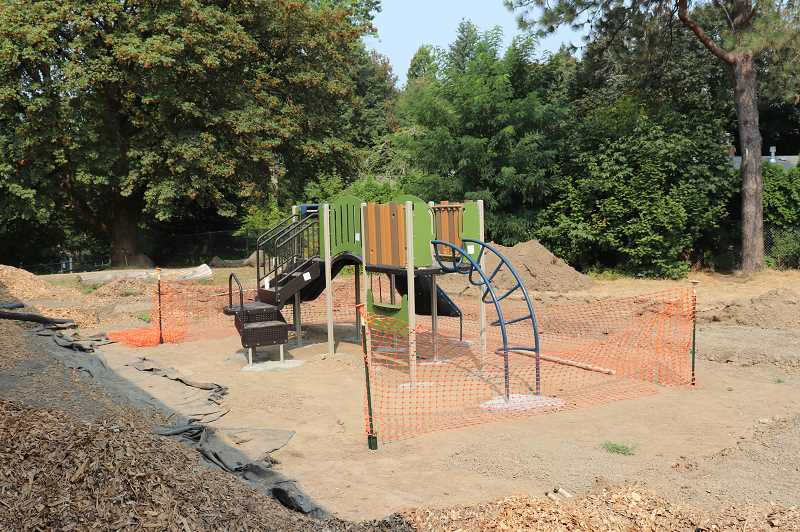 SUBMITTED PHOTO: ANDREW KILSTROM -  A new preschool playground is built at Cedaroak Park Primary.