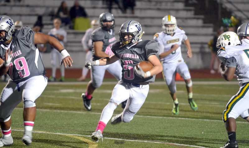 SPOKESMAN FILE PHOTO: TANNER RUSS - Senior runningback Cooper Mootz will return to the gridiron for one more season with the Wilsonville Wildcats.