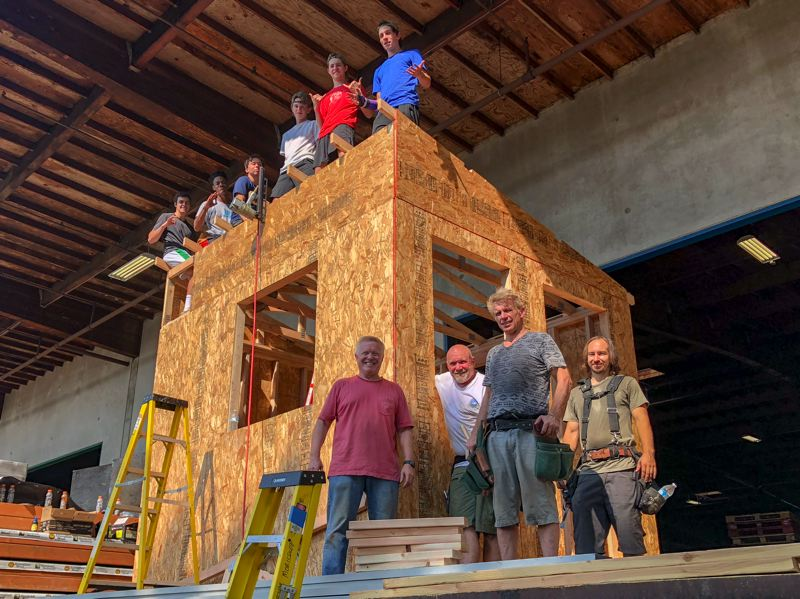 COURTESY: STONE BRIDGE HOMES NW - Stone Bridge Homes Northwest contributed architectural design assistance and construction guidance for students. Pacific Lumber & Truss Co. donated materials and space where the house was constructed.