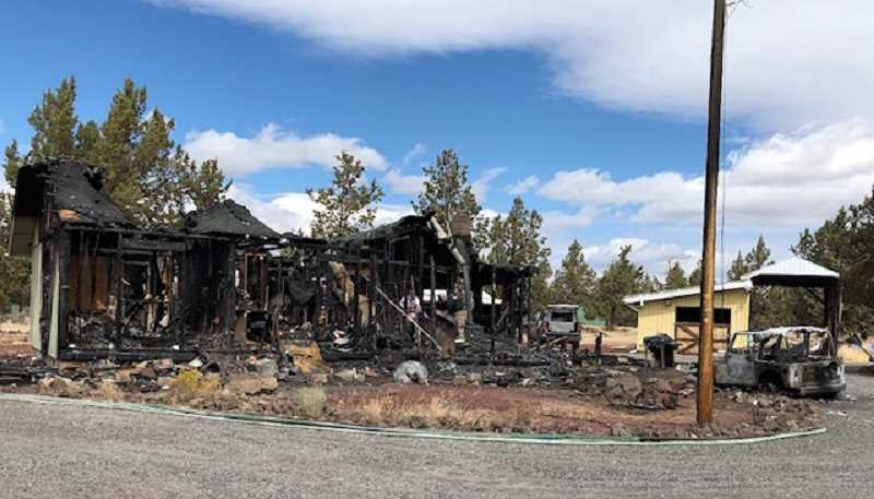 JOHN STEVENS - A Crooked River Ranch residence and vehicle were burned in an afternoon fire on Sunday, Aug. 25.