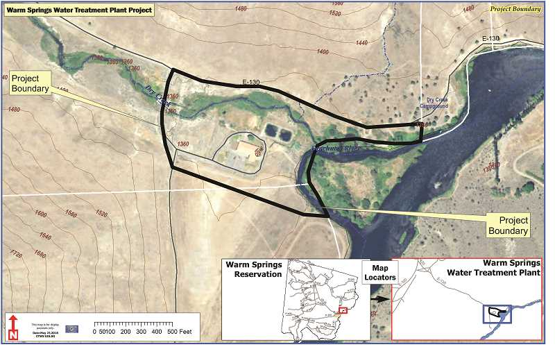 SUBMITTED MAP - The boundary of Warm Springs Water Treatment Plant Project is shown in this map.