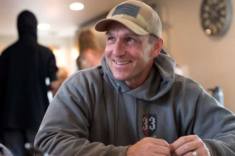 TIMES PHOTO: JAIME VALDEZ - Rob Watson is a board member of Just Compassion who has been working on remodeling a home which serves as a Resource Center for the homeless in Tigard.