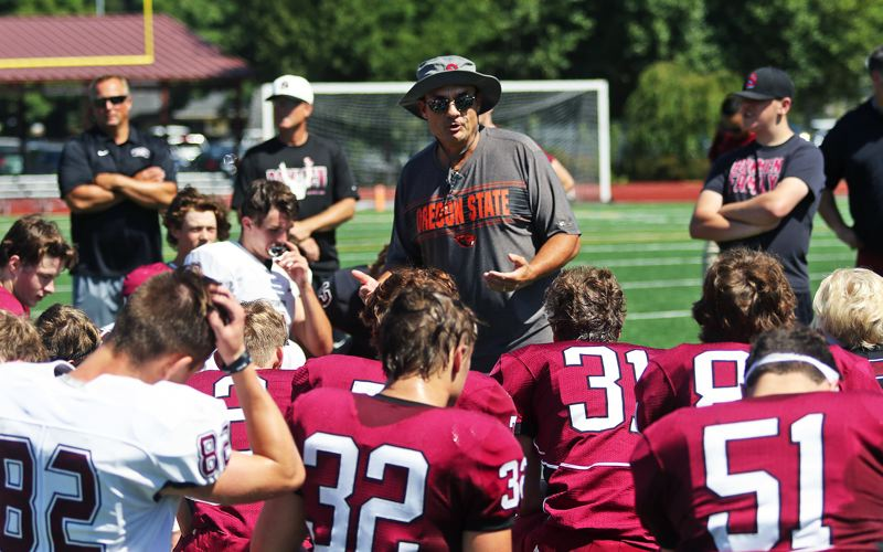 TIMES PHOTO: DAN BROOD - Sherwood coach Greg Lawrence, and the Bowmen, will be playing in the Pacific Conference this year.