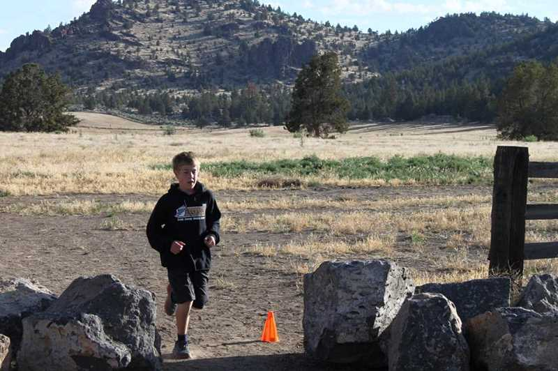 PHOTO SUBMITTED BY RORY RODGERS  - Jacob McKinnon finishes a 5K in the Run4Hope in late June.