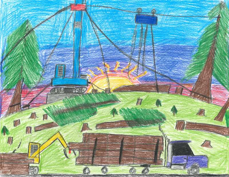 COURTESY PHOTO BY OREGON AGRICULTURE IN THE CLASSROOM FOUNDATION - One of the winning pictures for the Oregon Agriculture in the Classroom Calendar Contest done by fourth grade student Garrett Kuiper from St. Francis of Assisi in Banks.