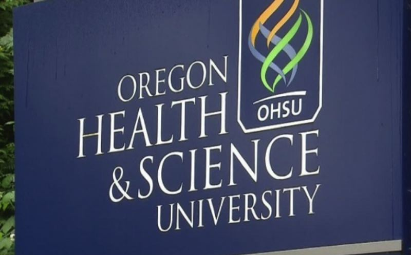 KOIN 6 NEWS PHOTO - A logo for Oregon Health & Science University.