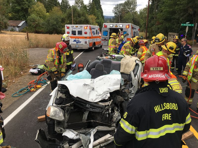 COURTESY WCSO - The aftermath of the head-on crash in Washington County.
