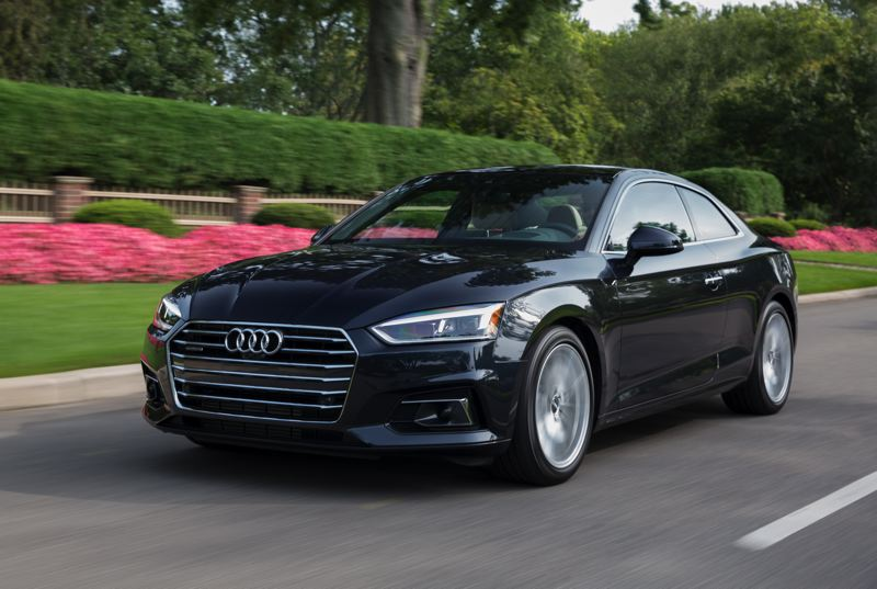 COURTESY AUDI AG - The 2018 Audi A5 is a cleanly-styled sports coupe that comes standard with quattro all-wheel-drive.