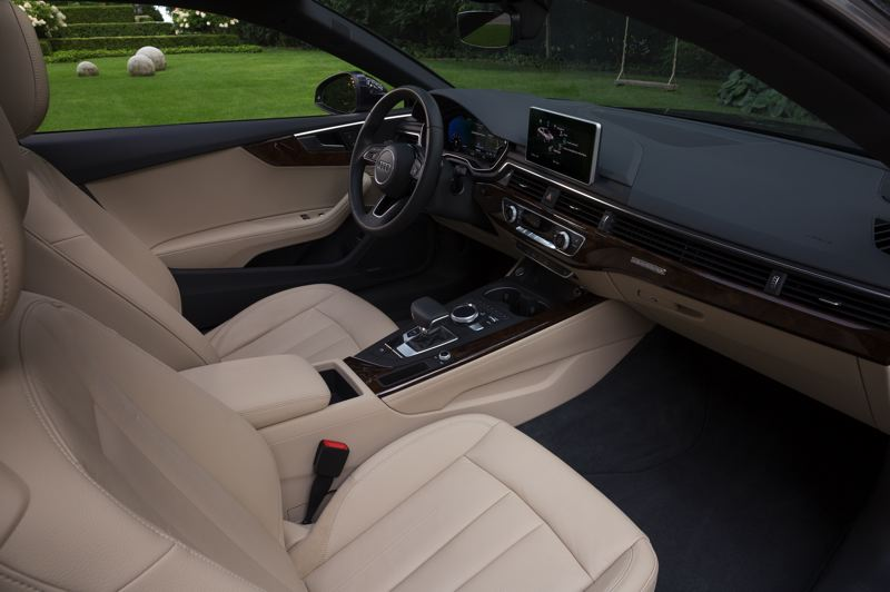 COURTESY AUDI AG - The interior of the 2018 Audi A5 is restrained and elegant, and lined with the finest materials.