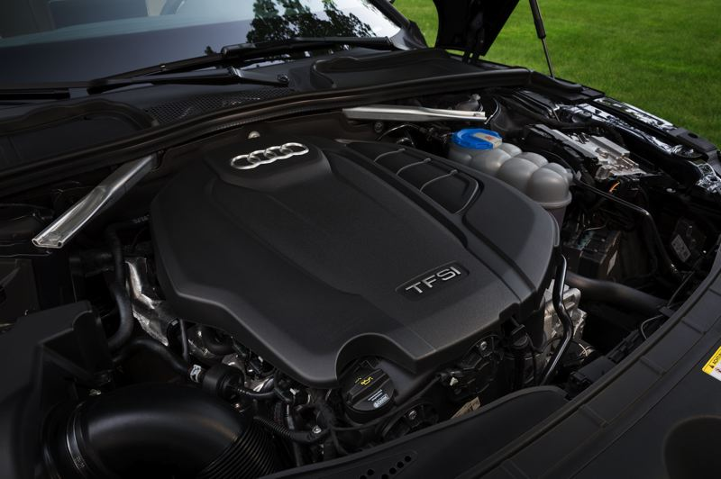 COURTESY AUDI AG - The secret to the performance of the 2018 Audi A5 is the punchy turbocharged 2.0-liter engine under the hood.