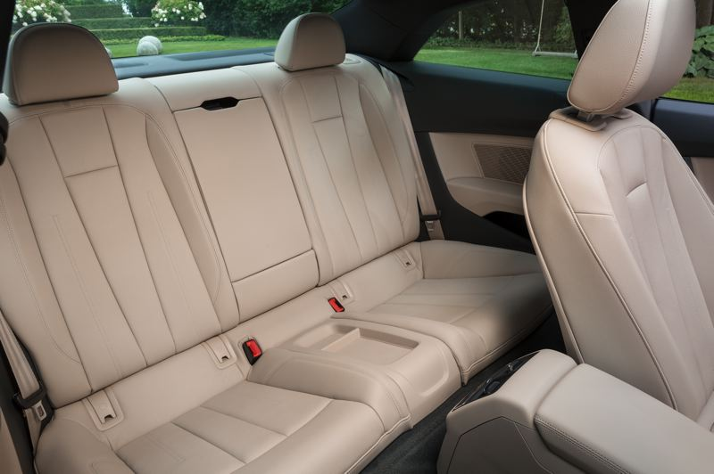 COURTESY AUDI AG - The back seat in the 2018 Audi A5 is for occassional use only.