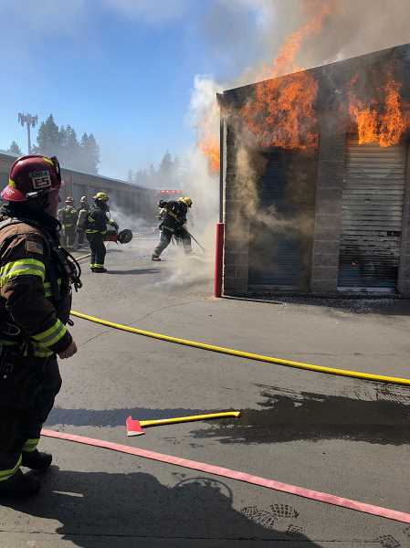 COURTESY PHOTO - More than two dozen firefighters tackled the blaze on Sunday, Sept. 2.