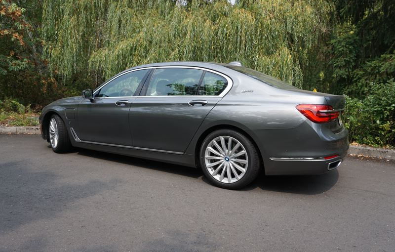 PORTLAND TRIBUNE: JEFF ZURSCHMEIDE - The BMW 740e offers ample rear seat legroom and creature comforts, and comes standard with a backup camera that helps with the extra length.