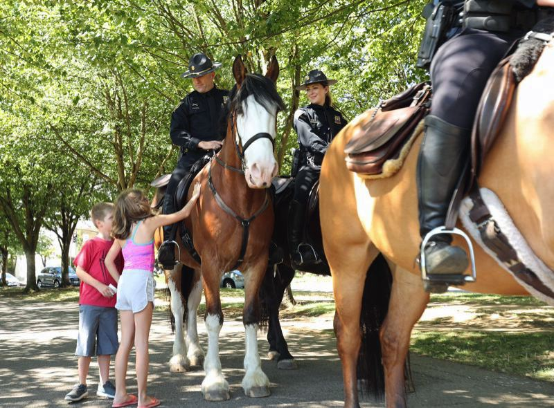 TIMES PHOTO: JAIME VALDEZ - The Mounted Patrol Unit started in 1875 and continued in various forms for the past century.