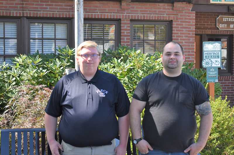 ESTACADA NEWS PHOTO: EMILY LINDSTRAND - Noah Fleck and Taylor Hicks plan to start a Citizens on Patrol program in Estacada.