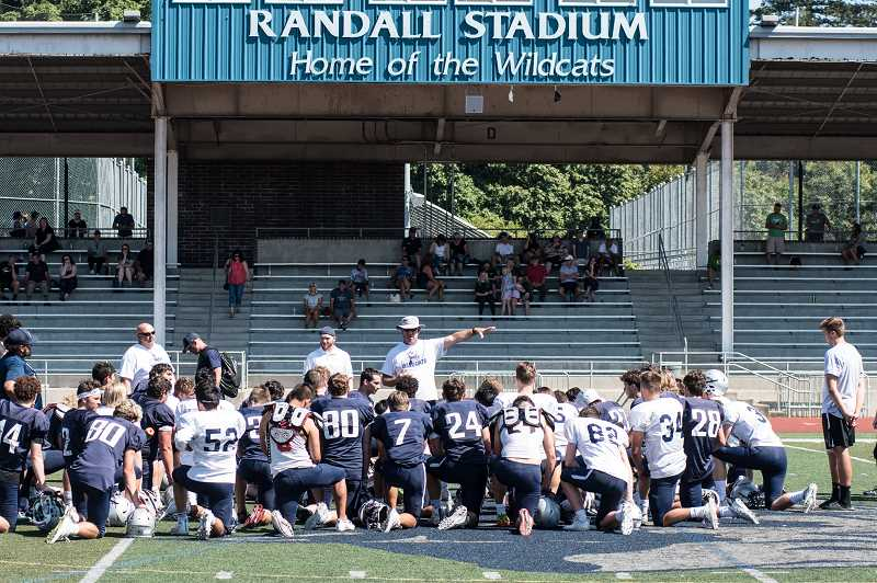 SUBMITTED PHOTO: GREG ARTMAN - Ahead of home opener, Wilsonville defeated Crater Comets 53-20 on Friday, August 30 to move to 1-0.