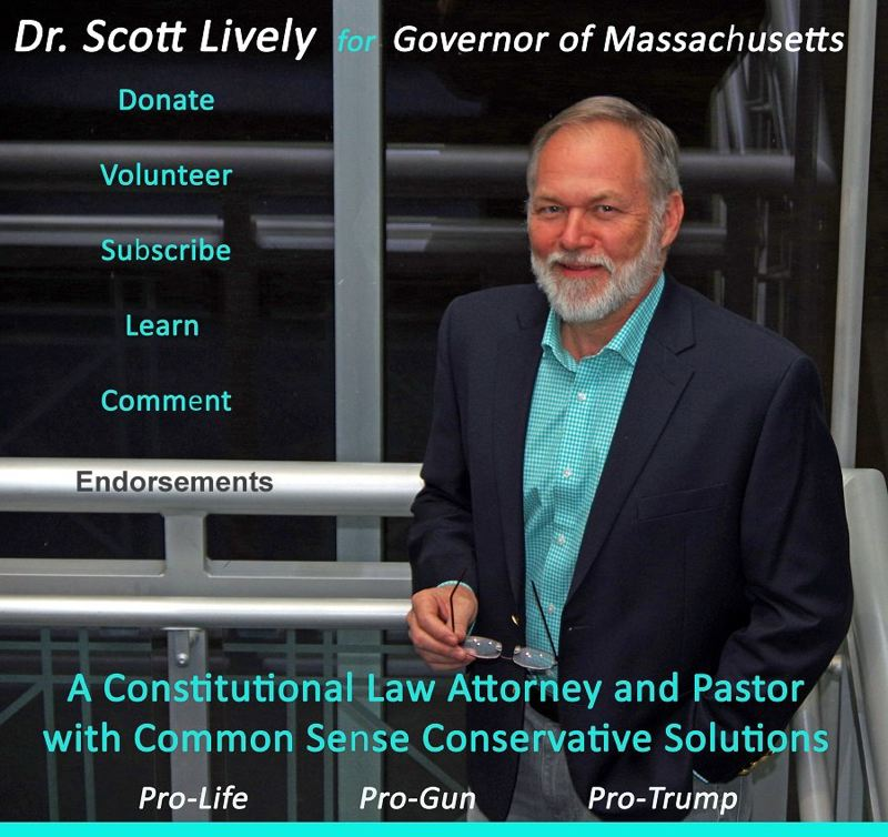 LIVELY FOR GOVERNOR - Scott Lively, a conservative pastor who was formerly the face of Oregon Citizens Alliance, faced off with Massachusetts Gov. Charlier Baker in the Republican primary for that state's governor.