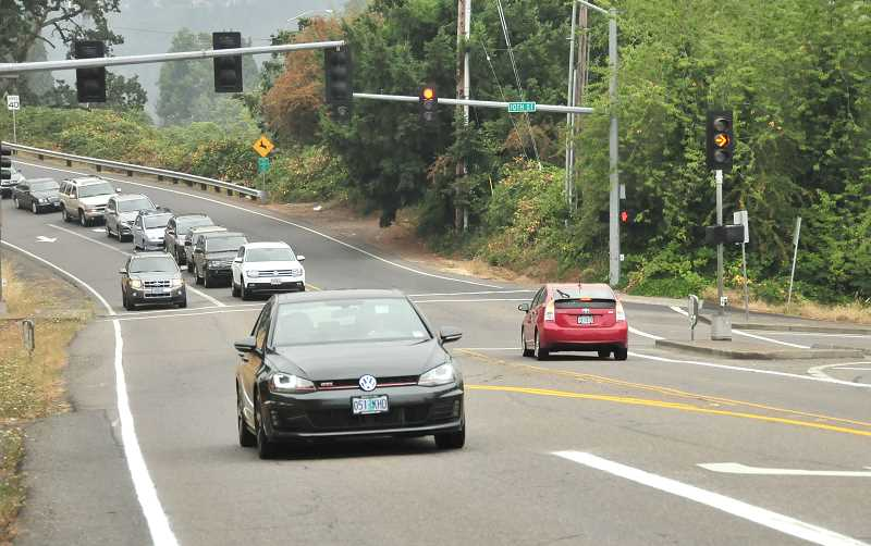 TIDINGS PHOTO: VERN UYETAKE - Addressing traffic issues in areas like the 10th Street and Salamo Road intersection is a top priority for West Linn as it prepares to design bond projects.