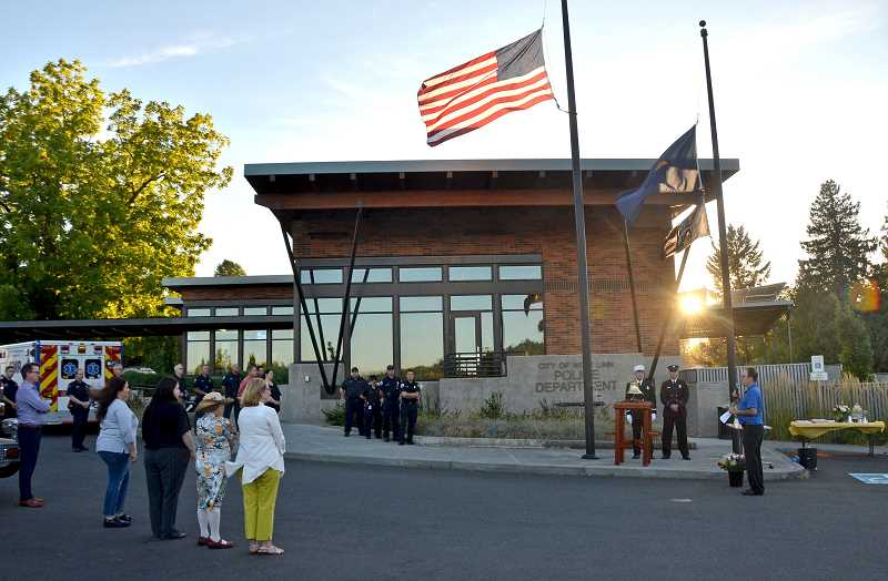 TIDINGS FILE PHOTO - After being held at the West Linn Police Station last year, the annual 9/11 memorial event organized by resident Dean Suhr will move to the new TVFR Station 55 this year.