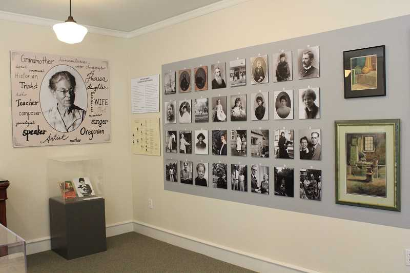 REVIEW PHOTO: SAM STITES - The Oswego Heritage House is one of three venues where you can see exhibits dedicated to Theresa Truchot's life; others include the Lake Oswego Public Library and Lakewood Center.
