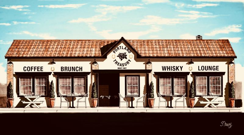 COURTESY: SHAWN DOHERTY ARCHITECTURAL - In addition to the Towne Crier Restaurant and Lounge, the renovated building will include the Portland Treasury, a coffee shop decorated with items from iconic buildings in Portland that have been demolished.