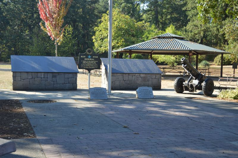 SPOTLIGHT PHOTO: NICOLE THILL-PACHECO - A series of upgrades are planned for the McCormick Park Veterans Plaza, which has been a joint effort of the city and the St. Helens Veterans of Foreign Wars Post 1440. The City Council approved two contracts this week with companies to pour concrete and install a new covered picnic shelter at the plaza.