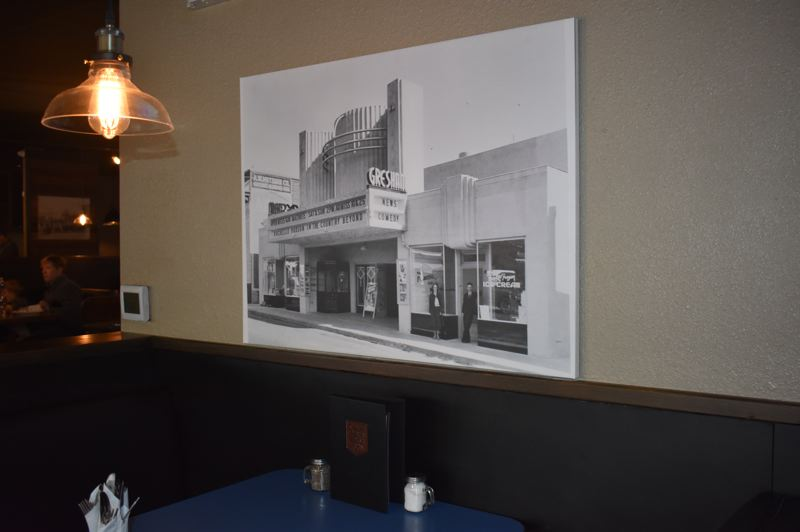 OUTLOOK PHOTO: SHANNON O. WELLS - Gresham history is prominently acknowledged on the walls of the new Schmizza Public House.