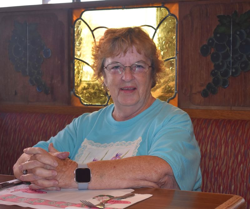 OUTLOOK PHOTO: TERESA CARSON - Terry Mitchell was waiting for her Reuben sandwich to arrive and said she is not a bit surprised that the restaurant has been serving customers for 50 years.