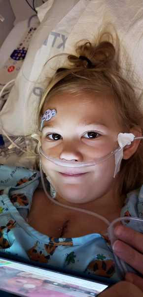 COURTESY PHOTO - Canby 7-year-old Cora Sutton received a heart transplant at Seattle Children's Hospital on Monday, Sept. 3.