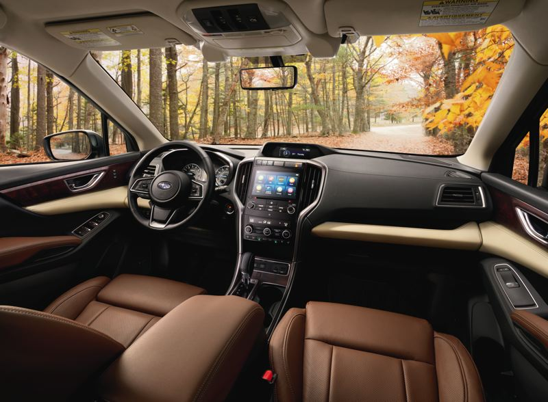 SUBARU OF AMERICA - The well-designed interior of the 2019 Subaru Ascent features a lot of room and controls that area easy to find and use.