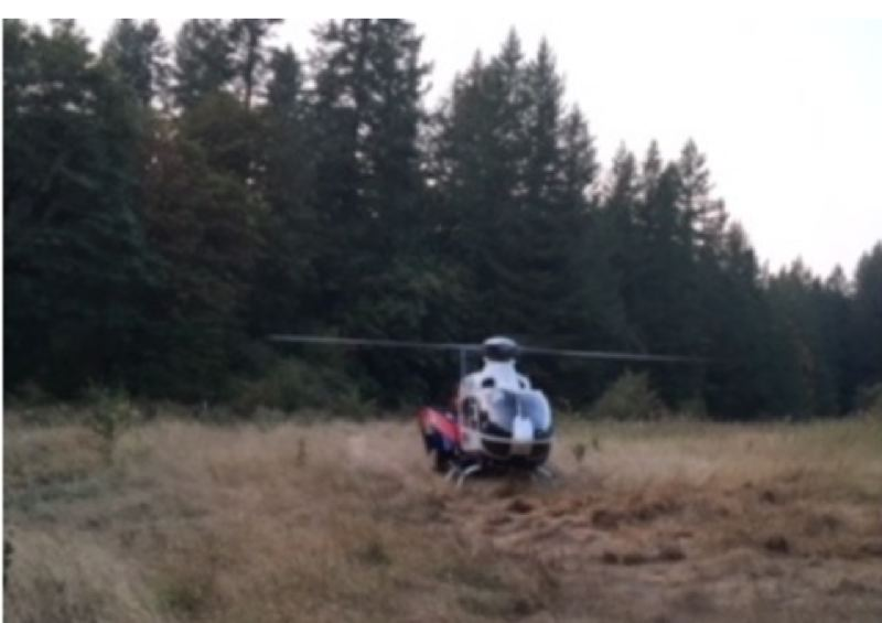 PHOTO COURTESY: CLACKAMAS FIRE - A teen was transported to the hospital by helicopter.