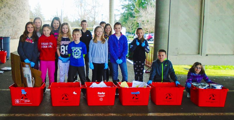 PHOTO COURTESY: MICHAEL CLARK - The McLoughlin Elementary Green Team leads the school in conservation efforts.