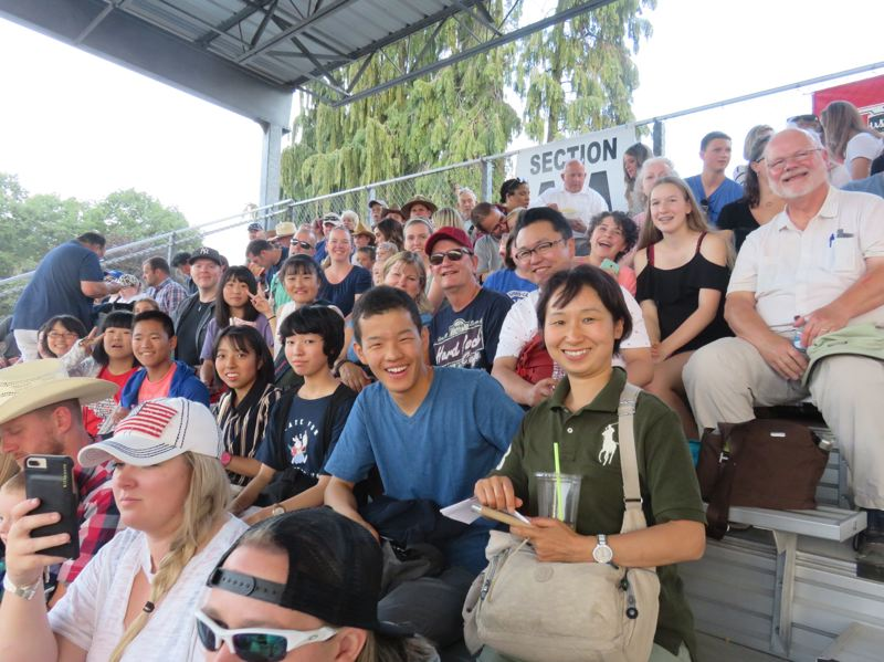 Tateshina visitors enjoy a trip to the Clackamas County Fair and Rodeo last month.