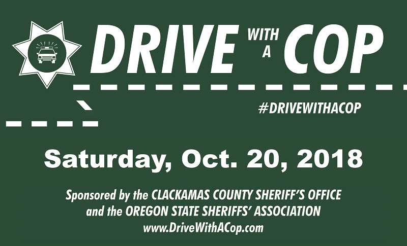 COURTESY PHOTO: CCSO - The annual 'Drive with a Cop' is set for Saturday, Oct. 20 at Porltand International Raceway.