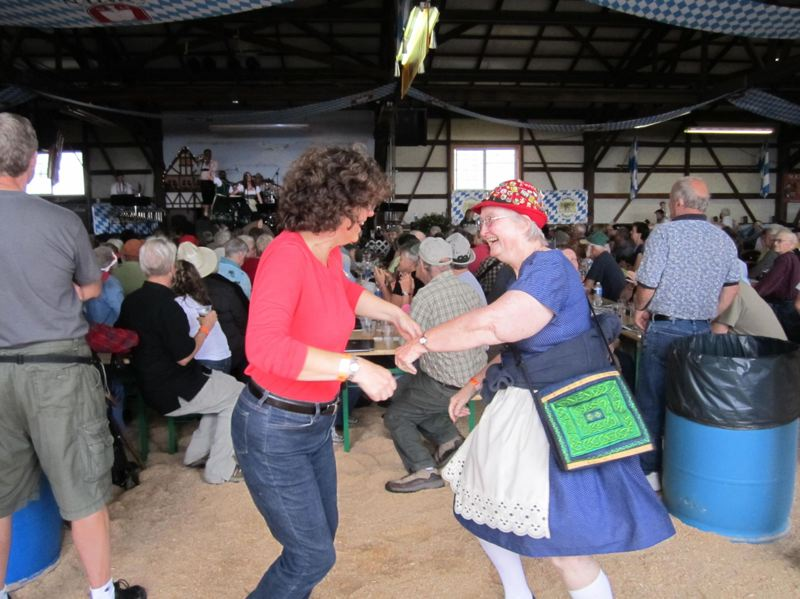 PAMPLIN MEDIA GROUP FILE PHOTO - Dancing and drinking are part of the fun at local Oktoberfest events. A new national survey says Portland is the No. 2 city in the nation for the annual fall celebrations.