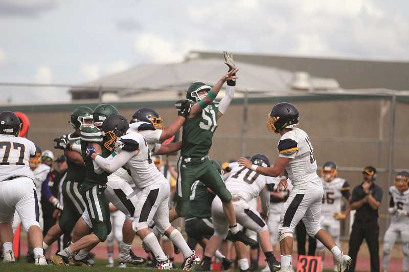 PHIL HAWKINS - The Huskies defense accounted for five turnovers while holding the Hornets to under 200 yards of total offense, including just 37 rushing yards.