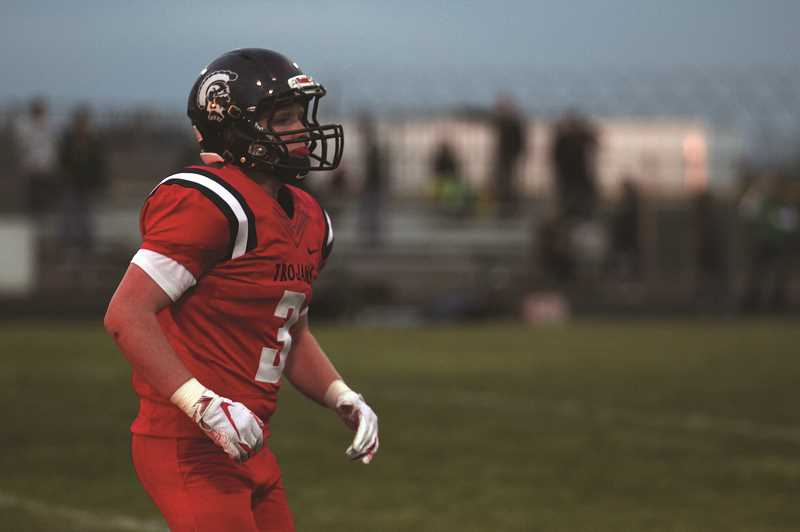 PHIL HAWKINS - A week after setting a new school record by returning an interception 102 yards for a touchdown against Blanchet Catholic, junior Bruce Beyer struck again, pulling down another interception in the first quarter against Regis and returning it 36 yards for the score.