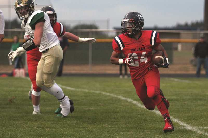 PHIL HAWKINS - Sophomore David Reyes added 60 yards and a touchdown on the ground, as the Kennedy rushing game amassed more than 200 yards of offense spread across eight ball carriers.