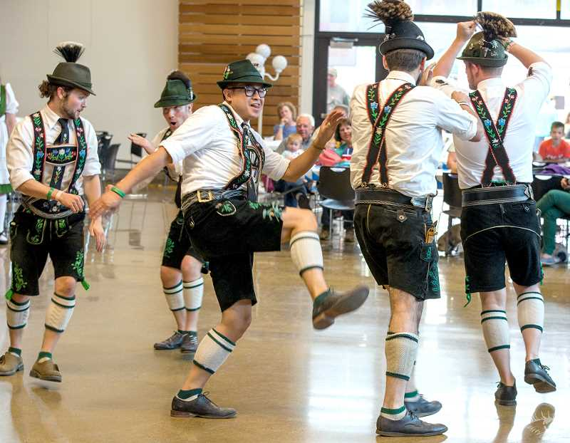 ENIGMA PHOTOS - Lederhosen, suspenders and alpen hats will be de rigueur for dancers and attendees alike at Oktoberfest.
