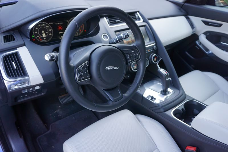 PORTLAND TRIBUNE: JEFF ZURSCHMEIDE - The well-appointed interior of the 2018 E-Pace is evidence of the many years that Jaguar has been building luxur vehicles.