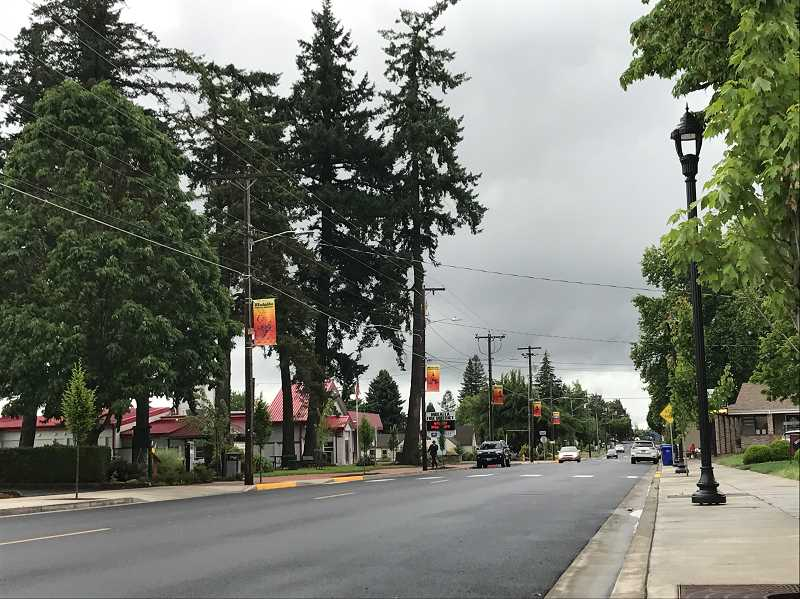 PIONEER PHOTO: KRISTEN WOHLERS - Pedestrian Joy Lynn Leavitt was struck and killed on Molalla Avenue on Tuesday, Sept. 11.
