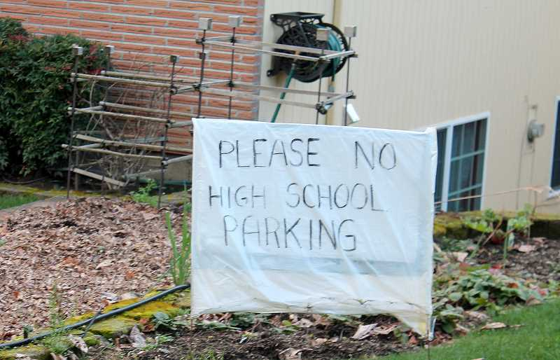 TIDINGS FILE PHOTO - Some community members were particularly frustrated during council debates about parking at the high school this summer.