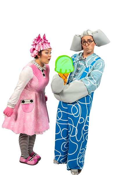 SUBMITTED PHOTO  - John Ellingson and Joellen Sweeney as Elephant and Piggie in NWCTs production of Elephant and Piggie We are in a Play opening Sept. 22.