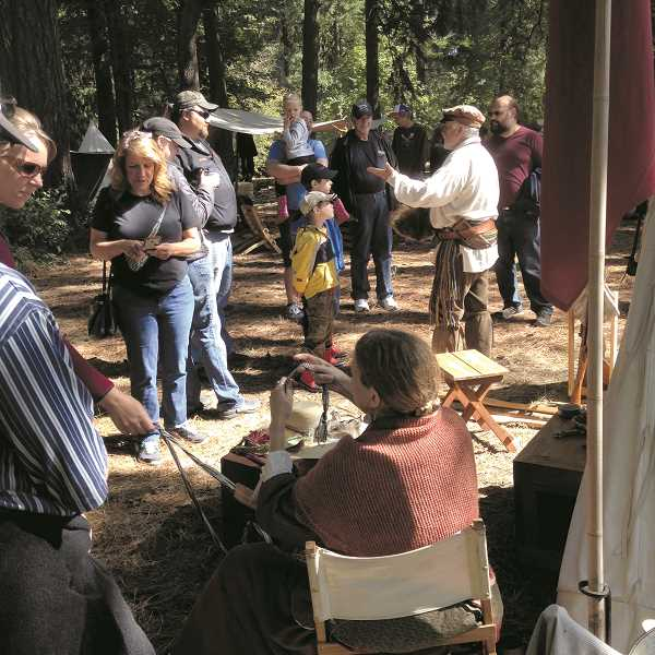 COURTESY PHOTO - Costumed re-enactors will demonstrate the life of fur trappers on Saturday, Sept. 15 from 10 a.m. to 4 p.m.