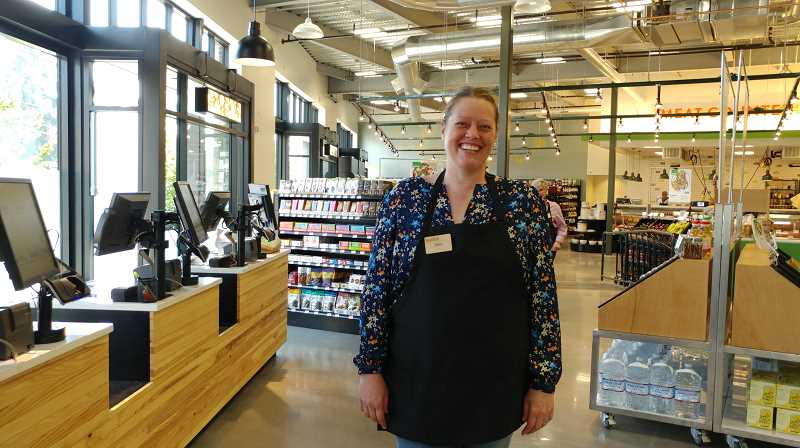 TRIBUNE PHOTO: JENNIFER ANDERSON - Store manager Erin Leiker is confident shoppers will find what they need at Basics Market, from fresh local beef and eggs to produce, coffee and dry goods.