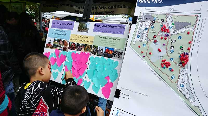 COURTESY PHOTO: CITY OF HILLSBORO - The city of Hillsboro asked participants at Dia de Los Ninos at Centro Cultural on April 31 what they would like to see in Shute Park.
