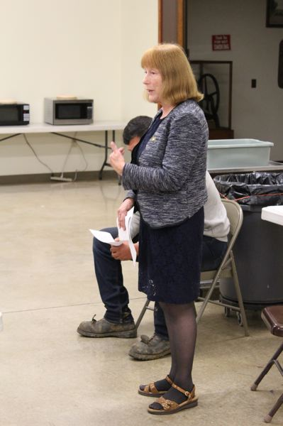 STAFF PHOTO: MARK MILLER - State Rep. Susan McLain answers a question at a Wednesday, Sept. 12, candidate forum in Verboort.