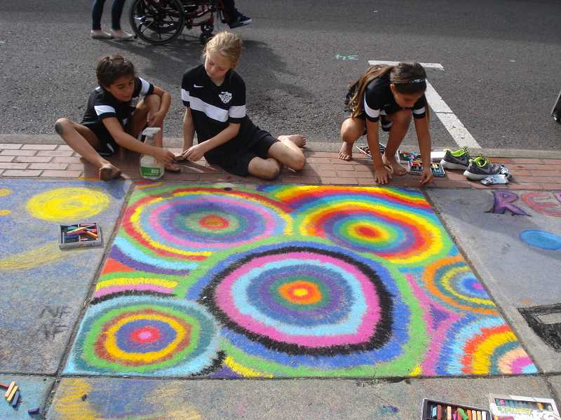 COURTESY PHOTO: VALLEY ART GALLERY - Sidewalk Chalk Art Festival has grown to be one of the most popular events in Washington County and has attracted new visitors to Forest Grove each year.