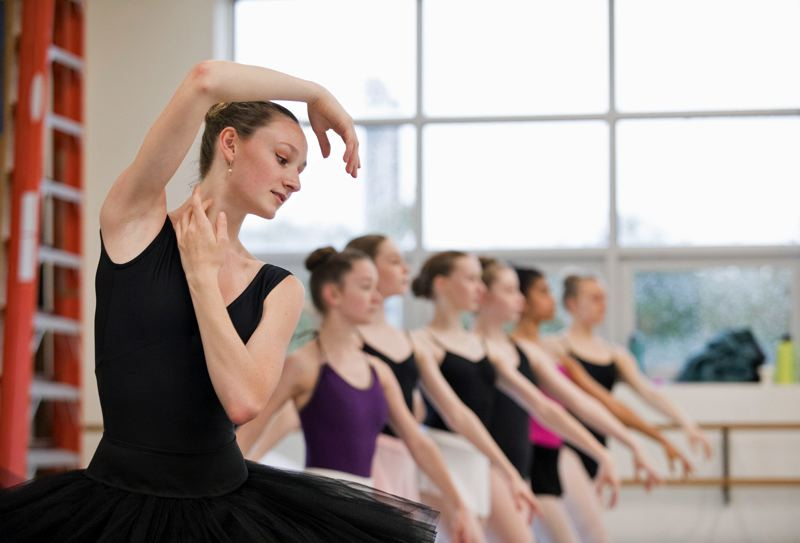 PHOTOS COURTESY BLAINE TRUITT COVERT - Giselle Tiret, 14, rehearses with The Portland Ballet.