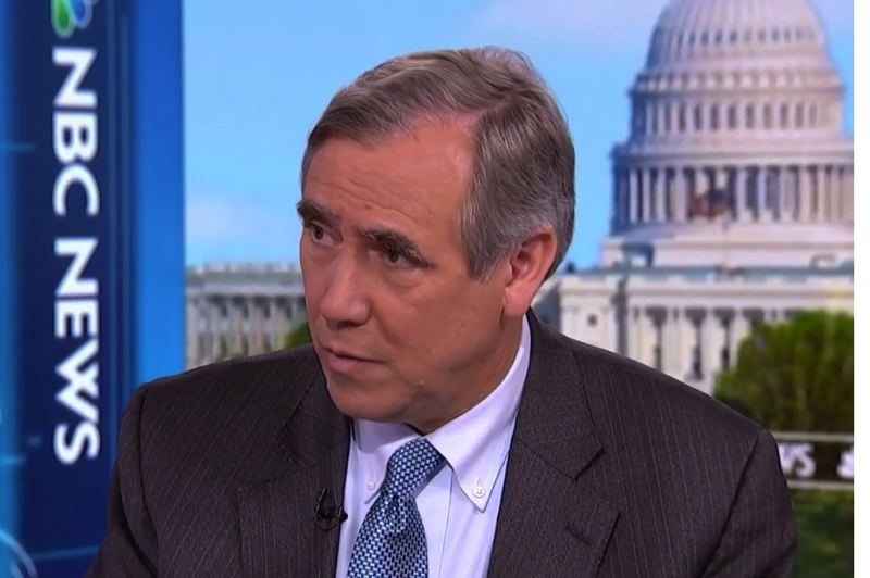 COURTESY PHOTO: MSNBC - Oregon U.S. Sen. Jeff Merkley, seen here appearing on an MSNBC news program, has been nominated by the Trump administration to be a temporary ambassador to the United Nations General Assembly.